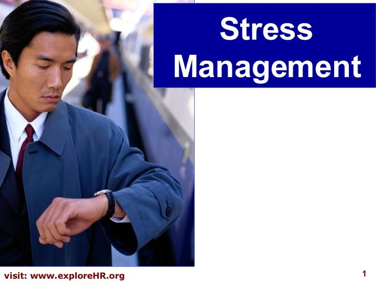 Excellent presentation slides on stress management: Stress Management by Yodhia Antariksa via slideshare-