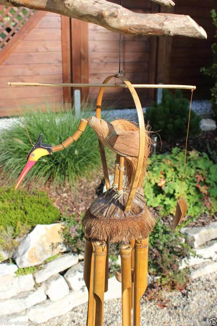 24 best Windspiele images on Pinterest Wind chimes, Bamboo and Bird - gartendeko aus polen