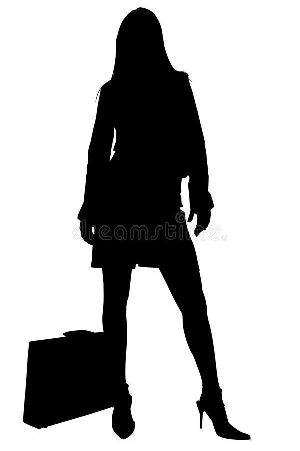 Silhouette With Clipping Path Of Business Woman With Briefcase Silhouette Over Ad Path Business Silhouette Business Women Silhouette Briefcase Women