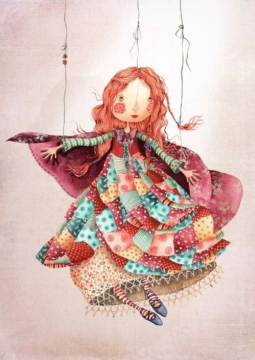 made by: Holly Clifton-Brown , illustration (marionette puppet)