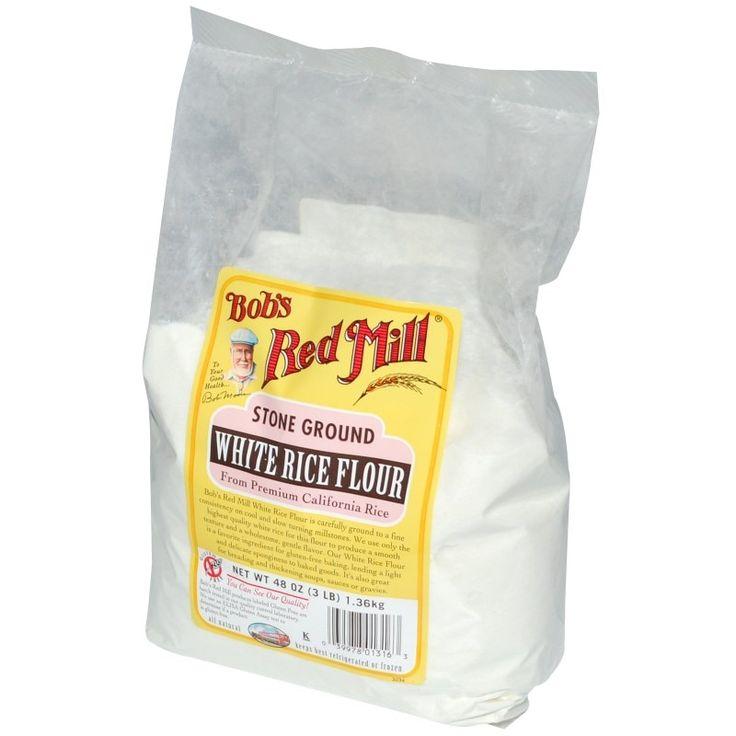 Bob's Red Mill, Белая рисовая мука жернового помола, без глютена, 48 унций (1,36 кг)