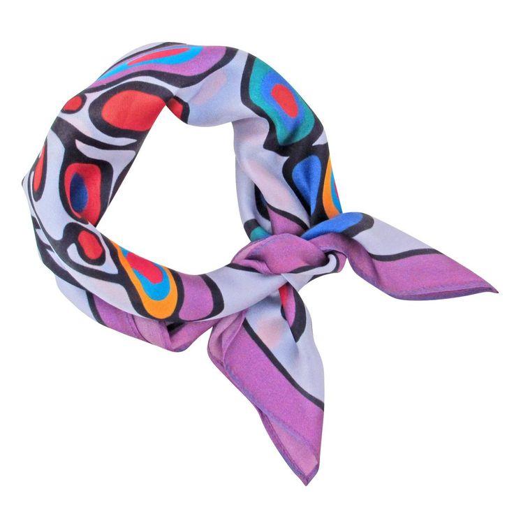 Norval Morrisseau Woodland Floral Silk Neckerchief - Available Apr 2017