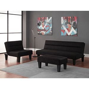 Bought this set for the basement area  Got futon in charcoal Kebo 3 Living Room Best 25 Futon living rooms ideas on Pinterest Decorating small