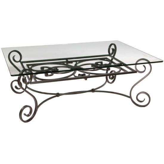 Find This Pin And More On For The Home Ideas Found It At Wayfair Stratford Coffee Table Stratford Cocktail Iron Table With Pencil Edge Glass Top