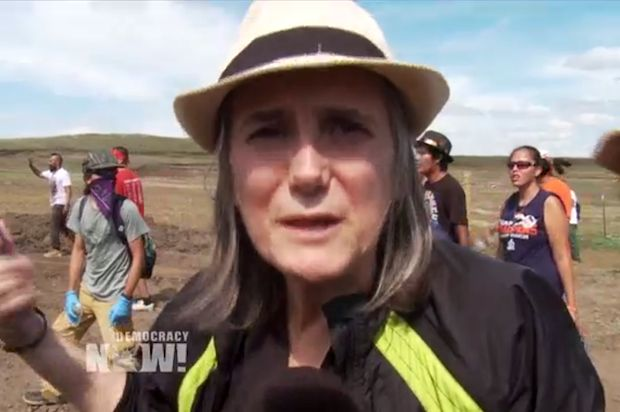 Democracy Now host charged with misdemeanor in North Dakota after exposing the use of attack dogs and pepper spray VIDEO