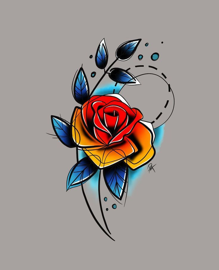 Watercolor Tattoo Rosa Pinterest Abel Pena Abstract Tattoo