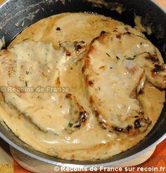 Côtes de porc sauce moutarde                                                                                                                                                                                 Plus