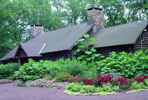 Log Cabin Exterior - Rutgers Gardens