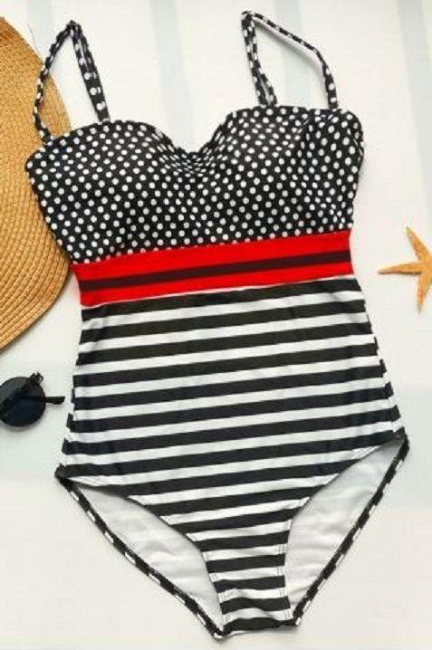 Polka Dots + Stripes! Women's Sexy Retro