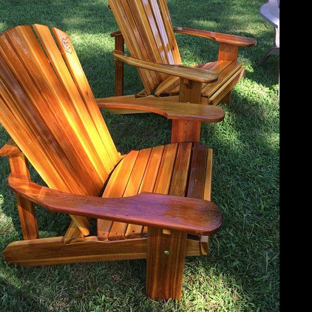 2 Adirondack Garden Chair Kits Unfinished Etsy Derevyannye