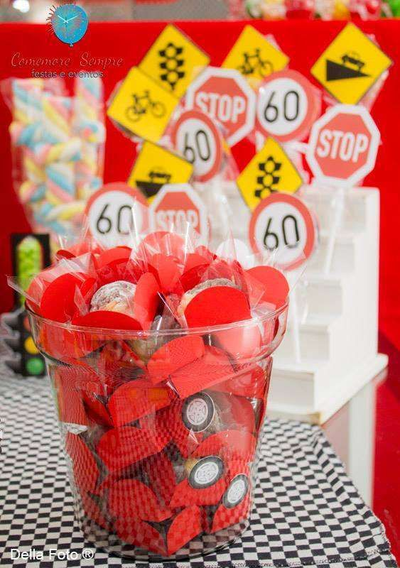 Treats at a  Disney Cars Birthday Party! See more party planning ideas at CatchMyParty.com!