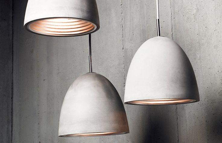 Cast concrete lights