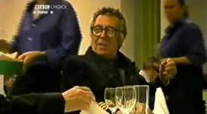 """Malcolm Hardee, drunk, in BBC TV's """"Diners"""""""