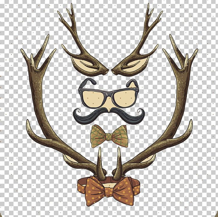 Reindeer Hipster Vintage Clothing Png Antler Antlers Antlers And Bow Material Antlers Vector Bow Vintage Outfits Velvet Bow Hipster