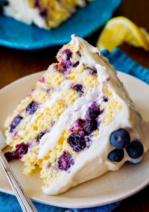 Lemon Blueberry Layer Cake | The Best Healthy Recipes