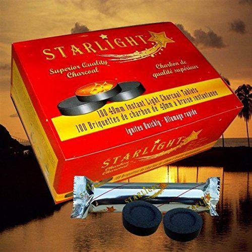 Starlight Charcoal Box of 100 Quick Lite Hookah Shisha Coals