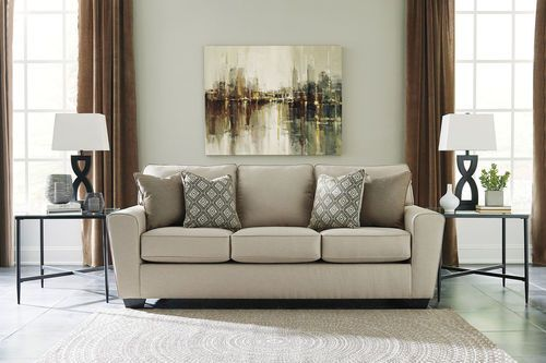 Ashley Calicho Ecru Sofa In 2019 Sofa Fabric Sofa Furniture