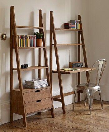 Sumatra Ladder Bookcase With Drawers