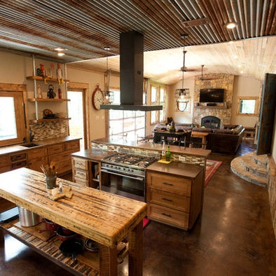 50 best images about barn tin ideas for Modern rustic kitchen ideas