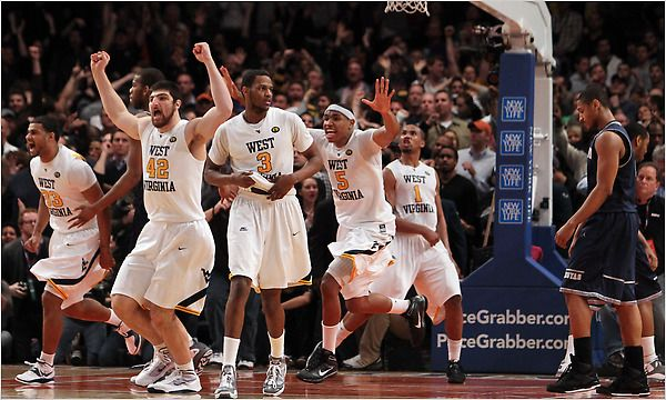 In 2010 the WVU Mountaineers won their 1st Big East Tournament Championship by defeating Georgetown 60-58. Da'Sean Butler was tournament MVP and the Mountaineers garnered a 2-seed in the Big Dance.