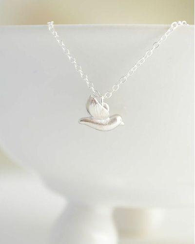 Silver 3D Bird Necklace