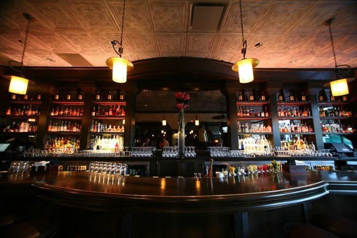 Bar interior lighting design of the gage restaurant