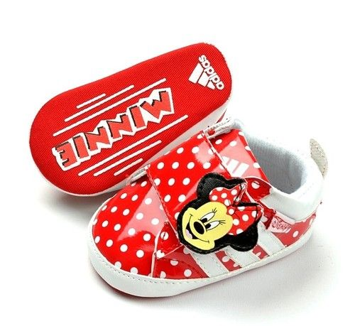 New Adidas Soft Sole Baby Girls Minnie Mouse Sneakers Crib Shoes Age 3 18  Month  ca0e2d84d8
