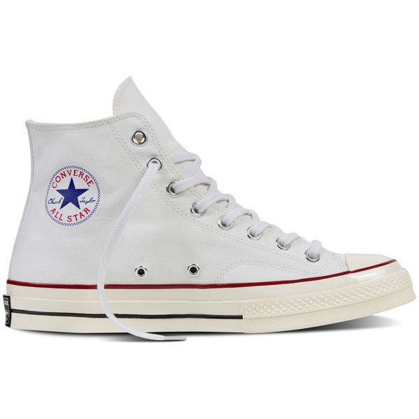 Converse Chuck Taylor All Star ˜70 – white Sneakers ($85) ❤ liked on Polyvore featuring shoes, sneakers, white, converse trainers, vintage white shoes, star caps, converse sneakers and white sneakers