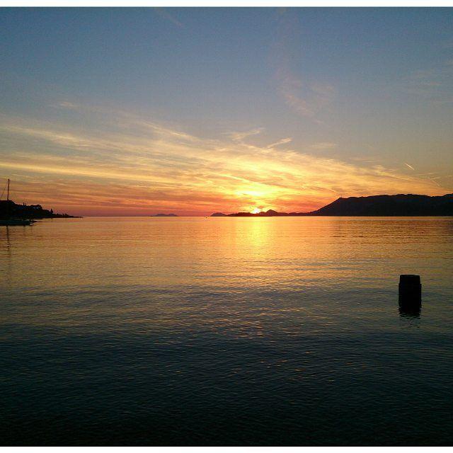 So beautiful  #sunset #cavtat #croatia #nofilter #adriaticseasunset #adriatic #holiday #beautifulsky