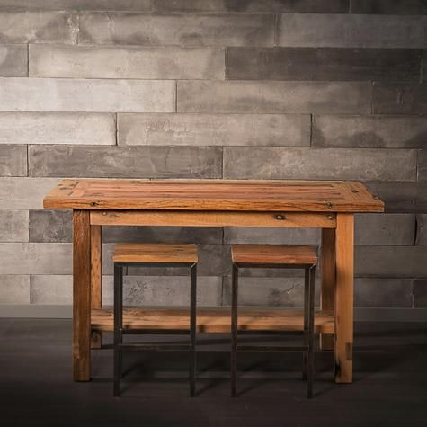 Yuda Recycled Wood Bar Table
