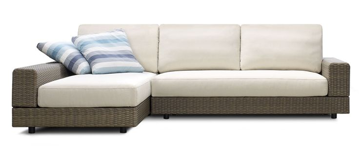 The Baby Jasper is a compact modular sofa designed for the outdoors.  With a ventilated UV waterproof fabric it's the finest example of outdoor furniture.