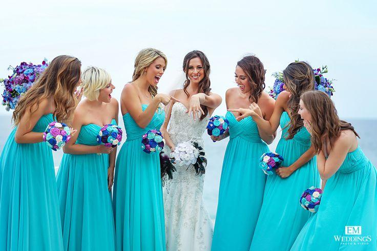 Bride and Bridesmaids at The Resort at Pedregal Los Cabos. #emweddingsphotography #destinationweddings
