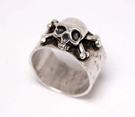 Dust N' Bones  100% Sterling Silver Ring  Rocker Ring