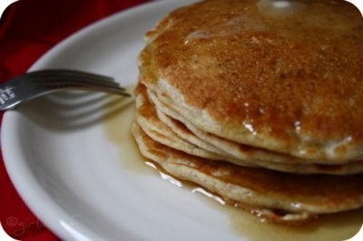 Classic Sourdough Pancakes by girlichef