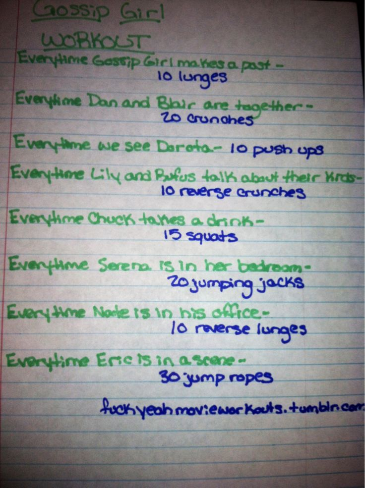 Gossip Girl workout! Want to see more workouts like this? Follow us here.