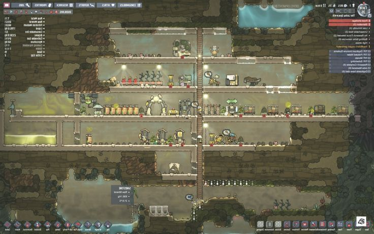 Oxygen Not Included Klei Space Colony Sim Games Quarter To Oxygen Not I Recreational Room Sims Games Awesome Bedrooms
