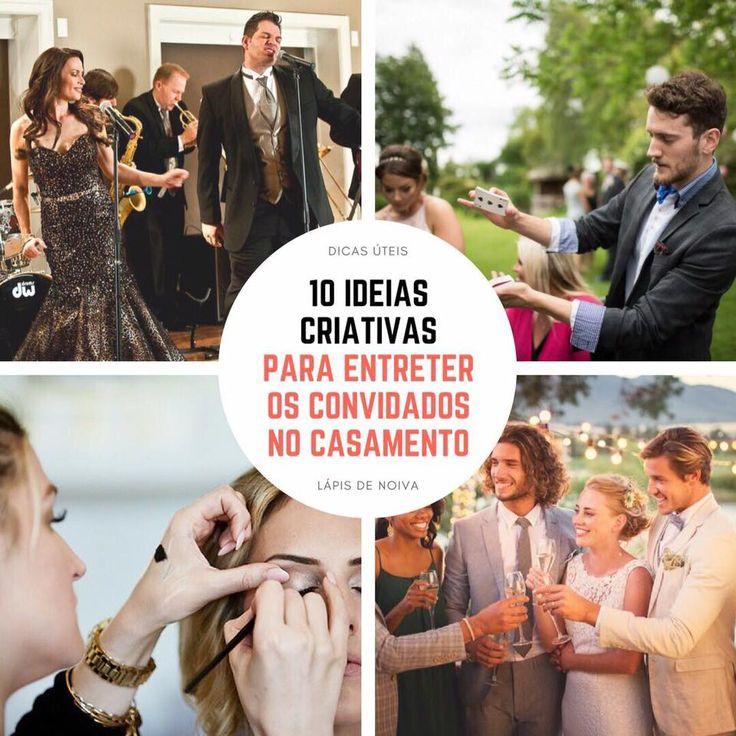 {Dicas Úteis} 10 ideias criativas para entreter os convidados no casamento | http://lapisdenoiva.com/ideias-para-entreter-os-convidados-no-casamento/