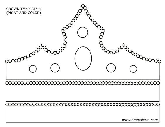 PAPER CROWN TEMPLATE - Google Search (Diy Paper Crown) Diy - crown template
