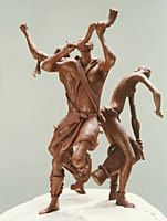 Quin bronze sculptures : realistic figures