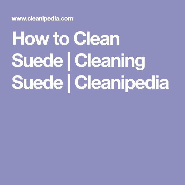 How to Clean Suede | Cleaning Suede | Cleanipedia