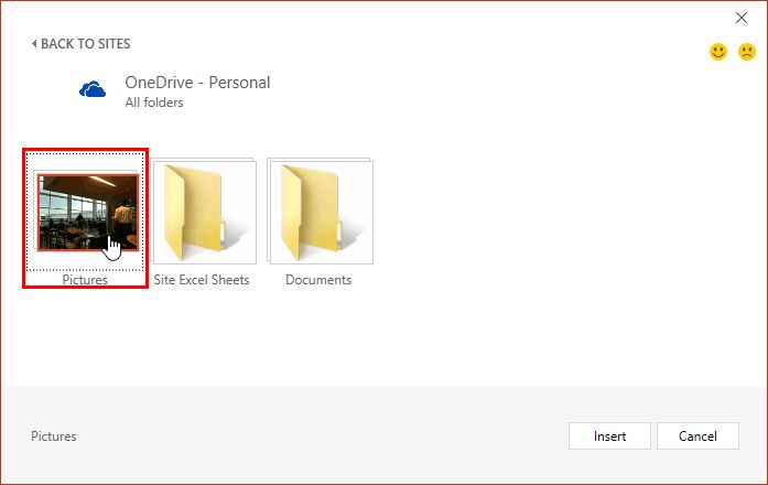 Insert #Picture from #OneDrive in #PowerPoint 2016 for Windows