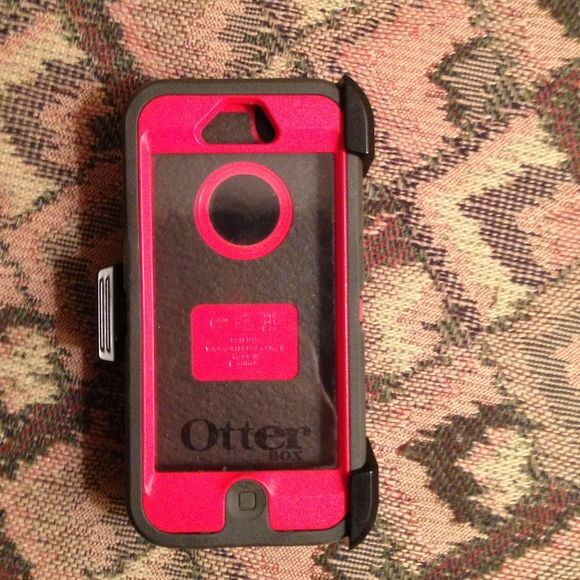 Otter box for iPhone 5 Dark gray and orange Defender Series Otter Box. Picture 3 shows a little sign of wear from unclipping phone from clip. Comes with clip and original packaging. *Do not ask for trades, I don't do trades* Otter Box Accessories