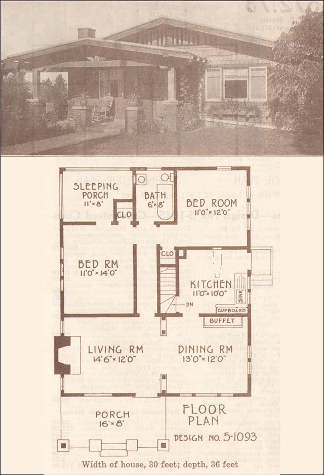 1915 california bungalow hewitt lea funck company low for Low pitch roof house plans