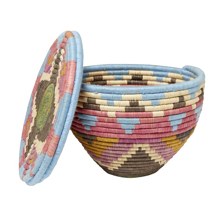 Love #pastel #colours and unusual #textures? You'll love this multi-coloured #pot from #Uganda. Click for more information on#TKMaxx's Rwenzori Trading Company #charity range.