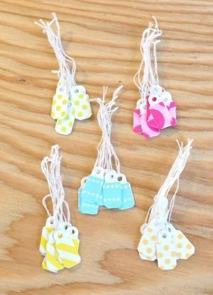 Fai la tua cartellini dei prezzi di plastica modo più carino con nastro di washi |  Tutorial DIY dal 9000 le cose di Eleanor