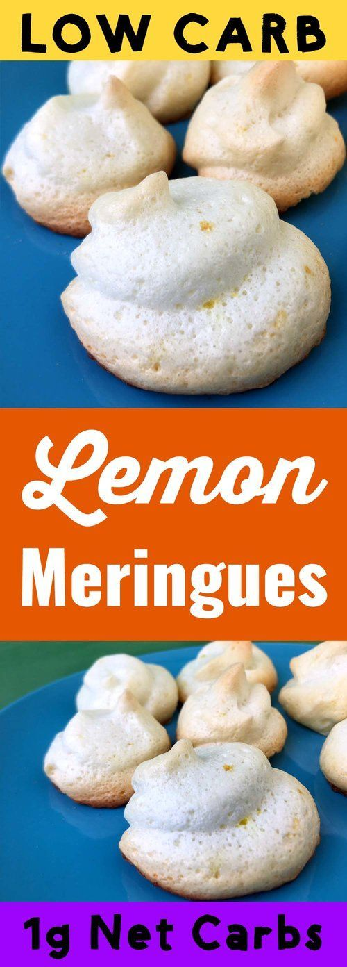 These low carb lemon meringue cookies are like a delicious lemony pocket of air. They've only got 4 calories and nearly zero net carbs. They are Keto, Atkins, Banting, THM-S, LCHF, Gluten Free and Sugar Free compliant. #resolutioneats #lowcarb #keto #cookie #meringue