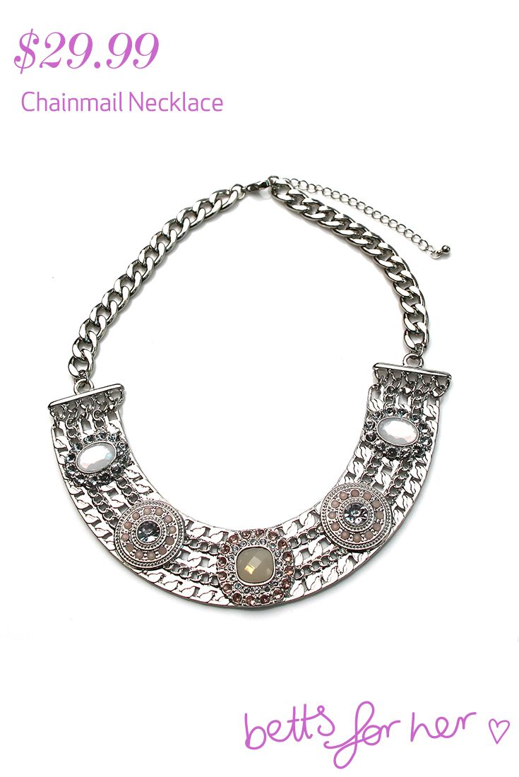 Chainmail Necklace $29.99 from the All Eyes On You collection - Betts for Her