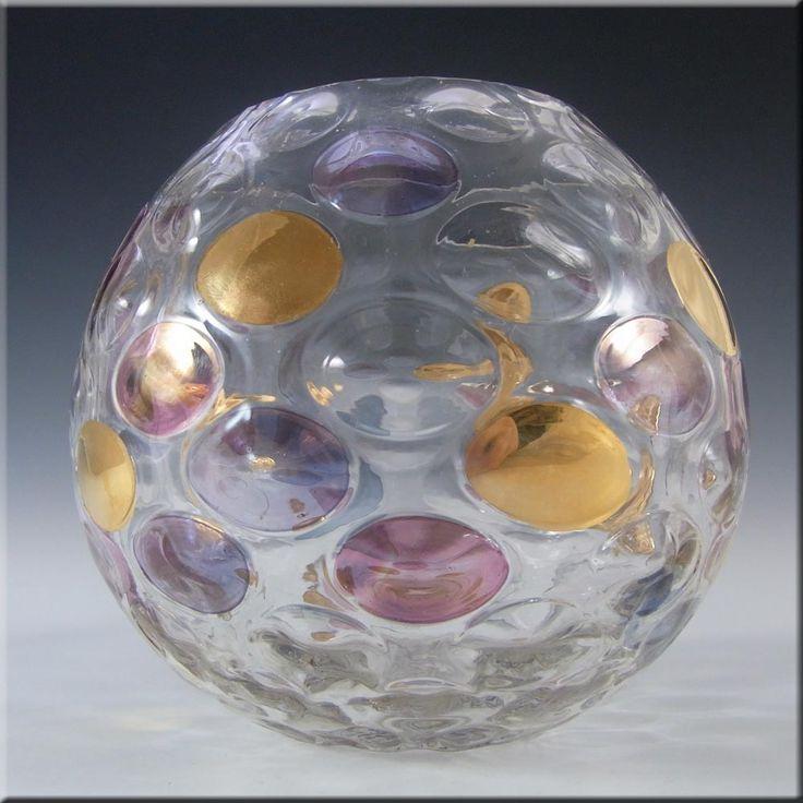 Borske Sklo 1950's Glass 'Nemo' Vase - Max Kannegiesser #2 - £30.00