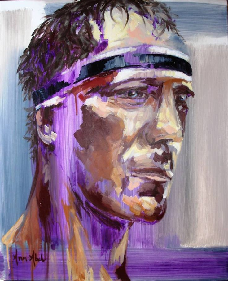 Buy RUGBY MAN FACE. Injured*5., a Acrylic on Canvas by Ann Abel Iseux from France. It portrays: Portrait, relevant to: purple, rugby, sport, contemporary portrait, expressionnism, contrasts, deep sight, injured Portrait of a rugby player after a match. Injured face, tough play but stay proud.