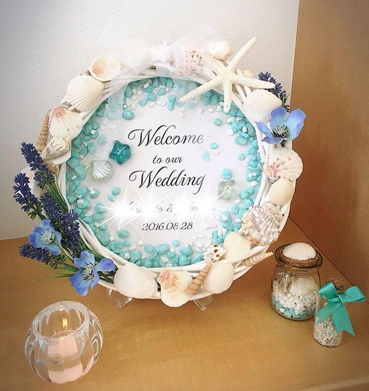 いいね!26件、コメント3件 ― Kanakoさん(@nico__cho)のInstagramアカウント: 「結婚式のウェルカムリース手作りしました☆所要時間約2時間です。#スクワッシュキャンドル #ウェルカムリース #ウエディンググッズ #ウェルカムボード #シェル #ラベンダー #ヒナゲシ#ヒトデ…」
